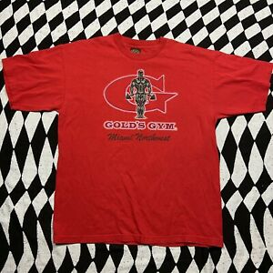Vintage 90s Golds Gym Miami Northwest Red Crew Neck T Shirt X Large $35.00