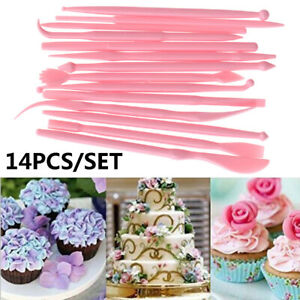 Modelling  Pastry Flower Fondant Carving Cutter Cake Decoration Baking Tools