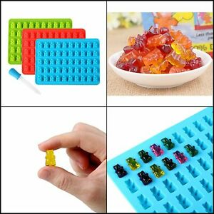 3 Pack Silicone Candy Molds 50 Gummy Bear Mold Jelly Chocolate Maker