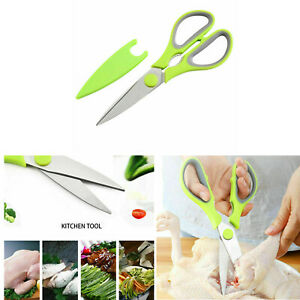 Kitchen Scissors Shears Heavy Duty with Safety Cover for Meat Poultry Herbs Food