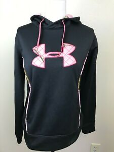 Under Armour Storm Semi fitted Women's Hoodie Black Pink Camouflage Medium $27.99