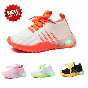 Kids Children Baby Boys Girls Led Light Up Sneakers Luminous Shoes Trainers GBP 12.99