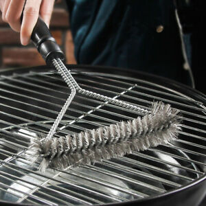 Kitchen Accessories BBQ Grill Barbecue Kit Cleaning Brush Stainless Steel