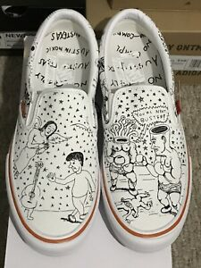 Daniel Johnston x No Comply x Vans Slip On IN HAND SHIP FAST SIZE 10