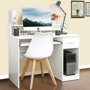 COMPUTER DESK TABLE Student Shelves Drawer Study Work Surface Home Office