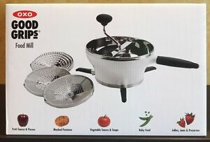 OXO Good Grips 2.3 Qt Stainless Steel Hot / Cold Food Mill Grinder w/ 3 Discs