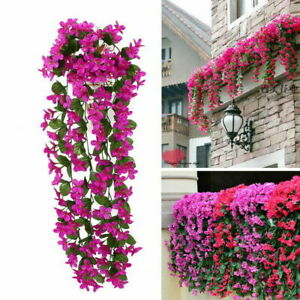 Hanging Flowers Artificial Vine Flower Wall Wisteria Basket Hanging Garland