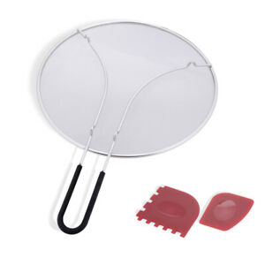 304 Stainless Steel Grease Splatter Screen Guard for Frying Pan amp; Skillets FDA