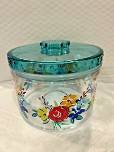 THE PIONEER WOMAN ROUND BIRTHDAY FLORAL DESIGN 6 INCH WIDE CANDY CANISTER