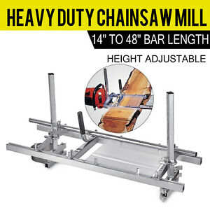 Portable Chainsaw mill 48quot; Inch Planking Milling 14quot; to 48quot; Guide Bar $63.50