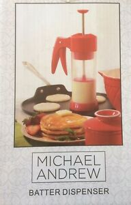 Pancake Cooking Batter Dispenser by Michael Andrew ~~ RED ~~ NEW