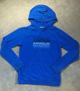Boys Under Armour Size Youth XL Loose Fit Lightweight Blue Hoodie Sweatshirt $14.99