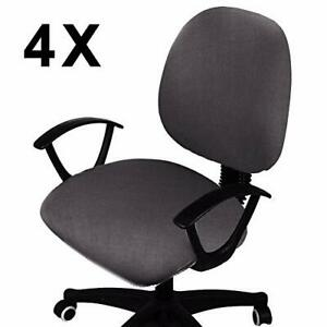 Voilamart 4 Pack Removable Office Chair Cover, Protect From Scratches, NEW Look