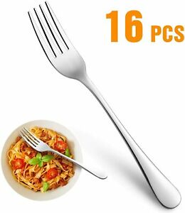 Set of 16 Top Food Grade Stainless Steel Silverware Forks,Table Forks,8 inches