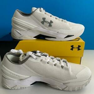 Under Armour 2016 Stephen Curry 2 Low Chef Charged Basketball White Shoes 10 USA $149.00