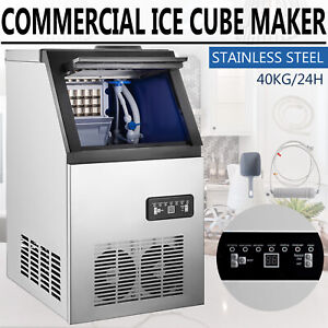 Built in Commercial Ice Maker Stainless Steel Bar Restaurant Ice Cube Machine $275.90