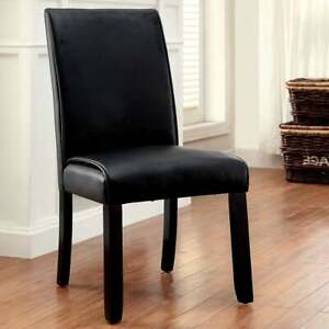 Furniture of America Jared Contemporary Black Dining Chairs Black Modern