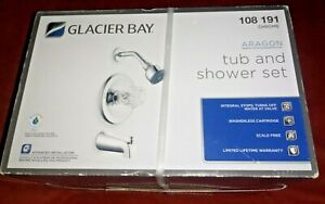 Glacier Bay Aragon (874-0101) Tub and Shower Set, Chrome *NEW SEALED*