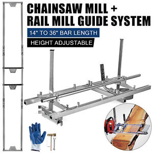 Portable Chainsaw Mill Log Planking Lumber Cutting 14