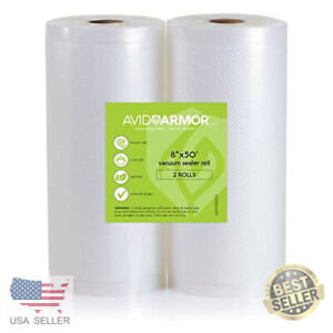 11x50 Vacuum Sealer Bags Roll. 2 Pack for Food Saver, Seal a Meal Vac Sealers to