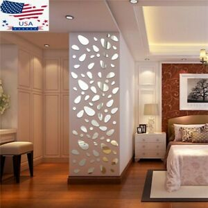 Wall Stickers 12PCS 3D Mirror Vinyl Removable Decals Home Decor Art DIY  FUN *US