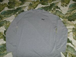 MENS LONG SLEEVE T SHIRT PULLOVER UNDER ARMOUR FITNESS SPORTS LOOSE FIT HEATGEAR $5.50