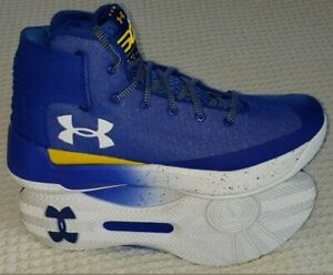 New Under Armour UA Stephen Curry 3 Mens Basketball Shoes ROYAL AND YELLOW 11.5 $77.77