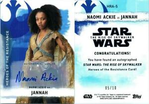 2020 STAR WARS THE RISE SKYWALKER SERIES 2 AUTOGRAPH NAOMI ACKIE AS JANNAH 5 10