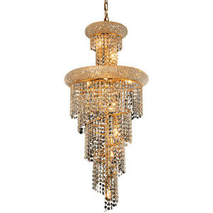 ASFOUR CRYSTAL CHANDELIER FOYER DINING ROOM HIGH QUALITY LIGHTING 10 LIGHT 36