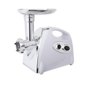 Electric Meat Grinder Sausage Maker with Handle White new182