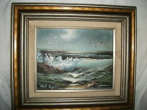 Roal English seascape oil painting untitled amp; signed $160.00