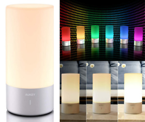 Aukey Table Lamp, Touch Censor,  Color Changing RGB