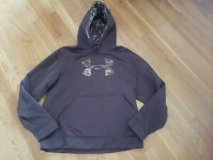UNDER ARMOUR MENS SMALL S HOODIE BROWN CAMOUFLAGE CAMO $4.99