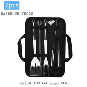 High Elasticity Stainless Steel BBQ Tools Barbecue Utensil Camping Cooking Kit