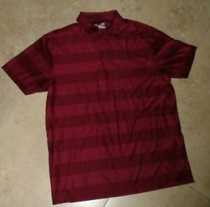 Wine Under Armour Heat Gear Loose Fit Button Neck Collared Polo Shirt L Large $2.94