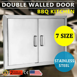 NEW 30quot; OUTDOOR KITCHEN BBQ ISLAND STAINLESS STEEL DOUBLE ACCESS DOOR USA MADE