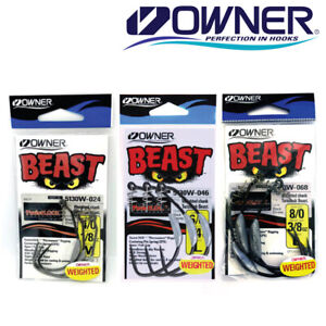 Owner Weighted Beast Swimbait Wide Gap Hook Fishing Hook 5130W Select Size $8.99