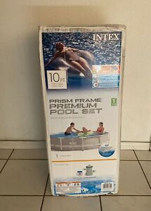 """Intex 26701EH 10' x 30"""" Prism Metal Frame Above Ground Swimming Pool with Pump"""