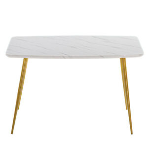 Marble Dining Table [120x74x76cm] White new26