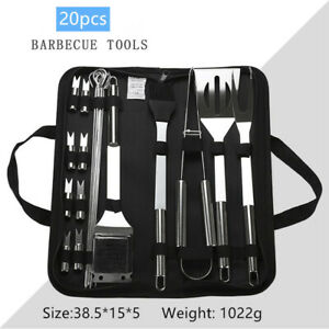 Durable BBQ Tools Set Stainless Steel Barbecue Outdoor Grilling Camping Utensils