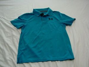 Pre owned Under Armour Blue Golf Shirt. Size Youth Medium. In good condition.  $5.00