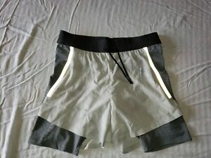 Nike Tech Pack 2 in 1 Running Shorts Gray Size SMALL $20.51