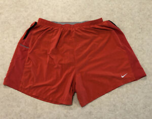 Nike Dri Fit 5 Lined Running Shorts Men's Large L Red $15.00