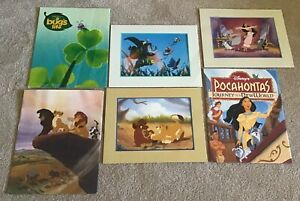 1990's Disney Lithographs Lot of 3 Pocahontas A Bugs Life Lion King II $19.99