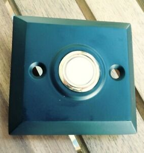 Its About Chime! Decorative Doorbell Push Button bevelled Square Modern Black