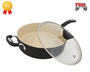 Non-stick pan 100% does not contain German-made NEP Made Coating, 5 L Lava Black
