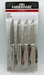 Brand New Farberware Stainless Steel 4-Piece Steak Knife Set Fine Edge 5059627