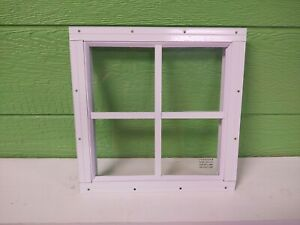 Shed Windows--12 x 12 flush mount brown or white