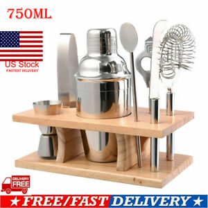 Stainless Steel Cocktail Shaker Mixer Drink Bartender MartiniTool Bar Set Kit