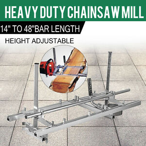 Portable Chainsaw mill 48quot; Inch Planking Milling Bar Size 14quot; to 48quot; $63.50